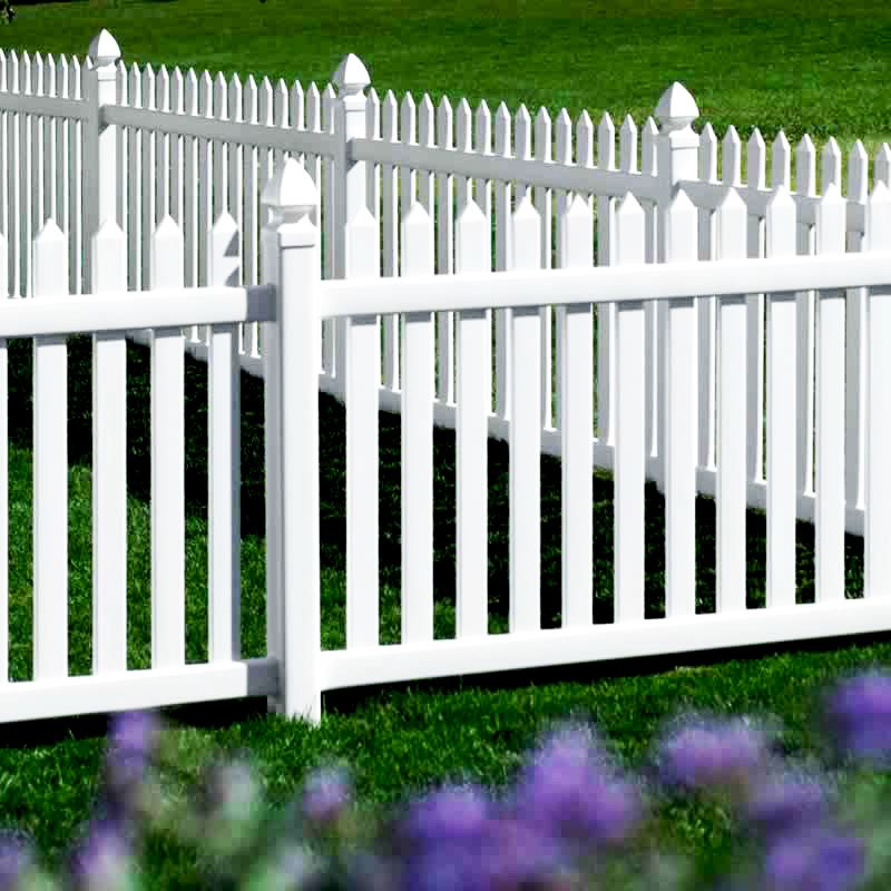 Image Result For Melrose Picket White Vinyl Fence Backyard Fences Vinyl Picket Fence Fence Design