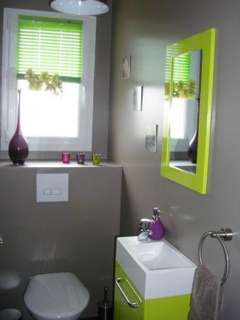 Deco Cuisine Gris Et Vert deco toilette moderne Vert et blanc comme ...
