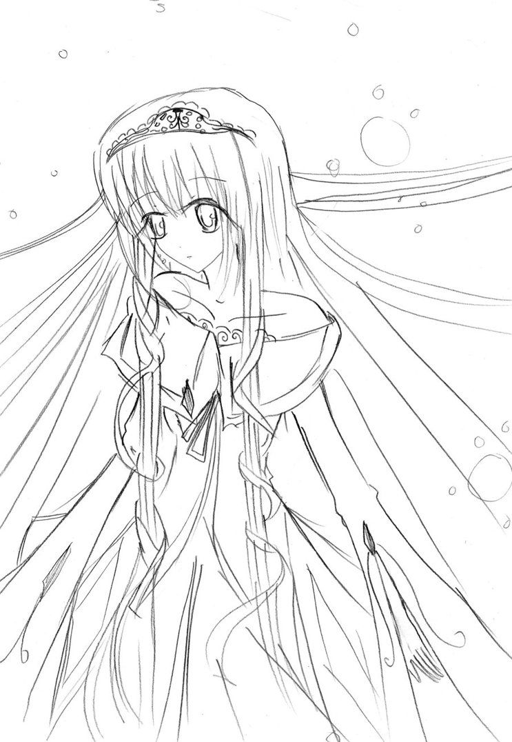 cool Download Anime Girl Coloring Pages At 743 X 1076 Resolution ...