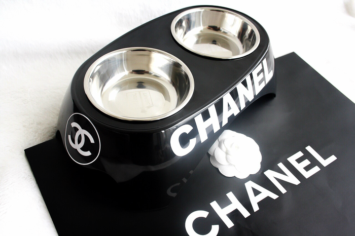 Chanel Dog Bowl Cute Dog Bowls Bling Dog Collars Designer Dog