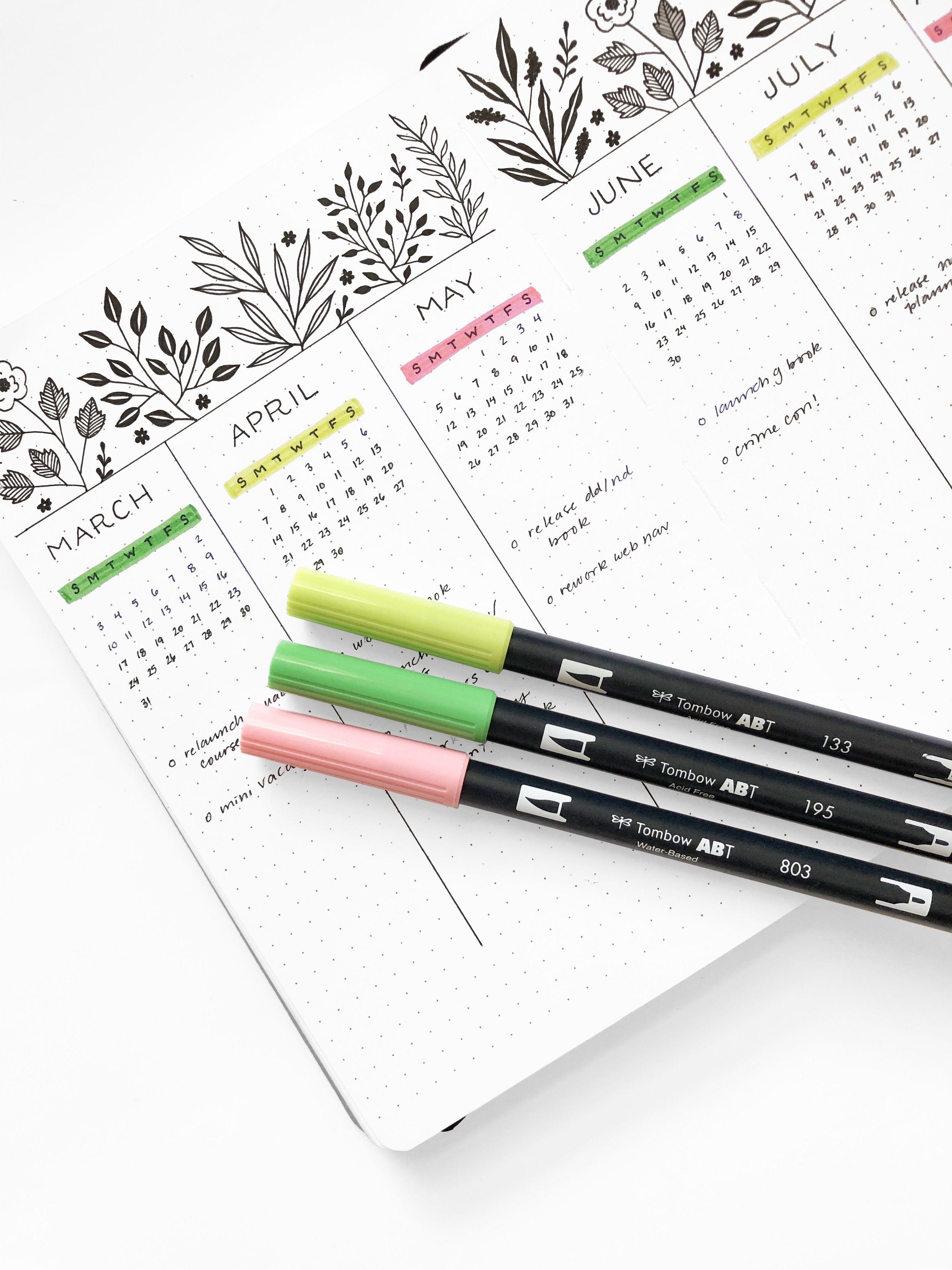 Bullet Journal Layouts for the Vernal Equinox #autumnalequinox