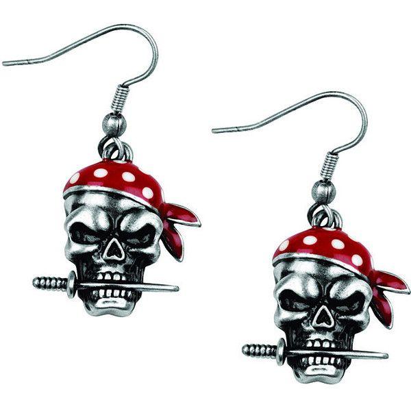 Lead-free Pewter Pirate Dagger Shepherd's Hook Pendant Earrings White (49 BRL) ❤ liked on Polyvore featuring jewelry, earrings, white, long pendant, pewter earrings, pewter jewelry, hook pendant and pirate earrings
