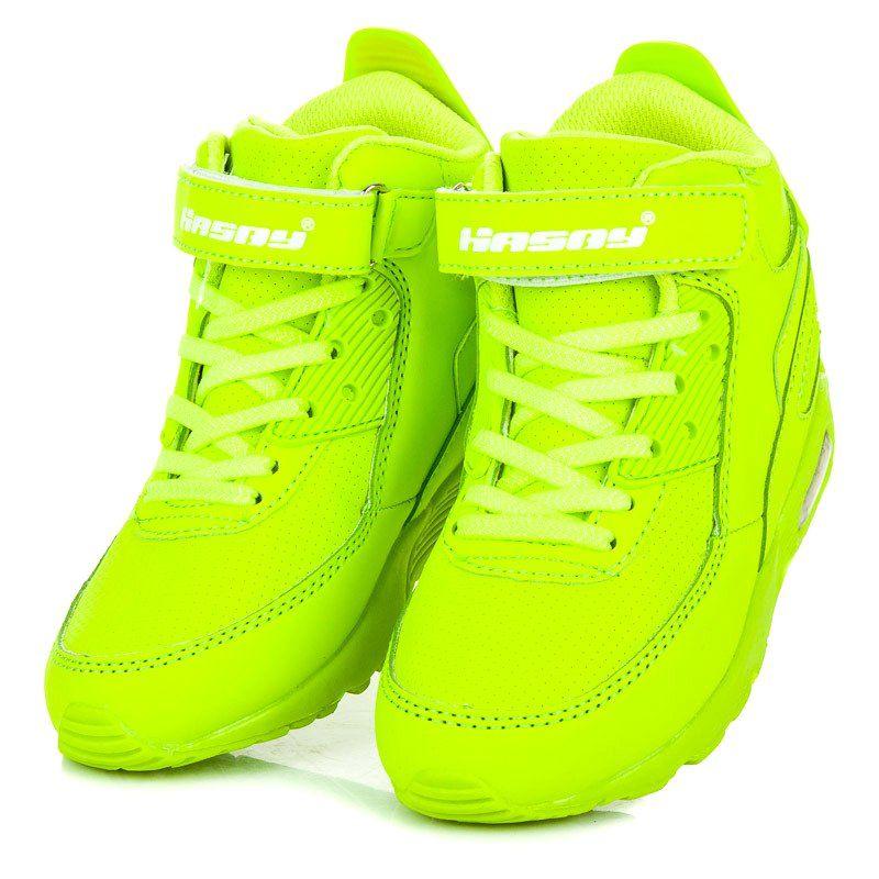 Hasby zielone Neonowe Buty Nad Kostkę | Buty sportowe