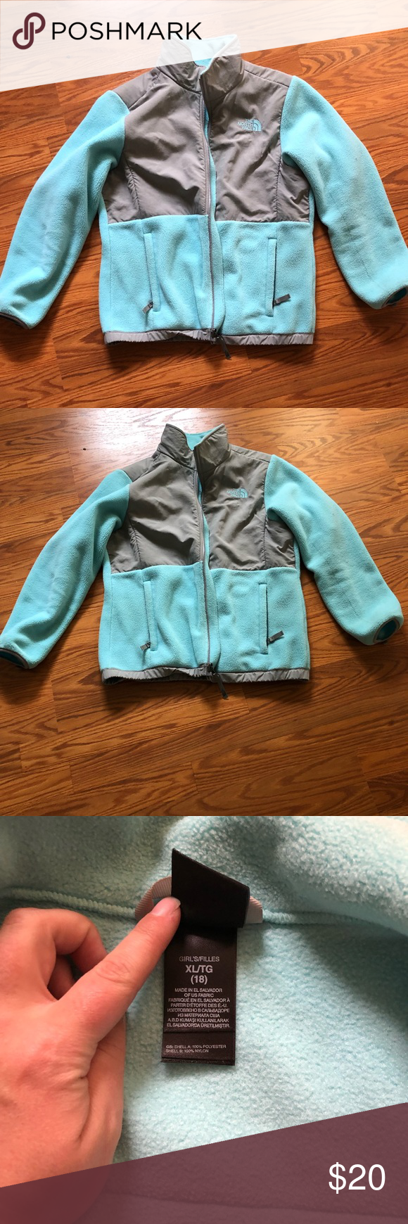 Baby Blue North Face Color Block Baby Blue And Grey Worn Only A Few Times My Last Name Is Written On The Name Tag North Face Jacket The North Face Baby [ 1740 x 580 Pixel ]