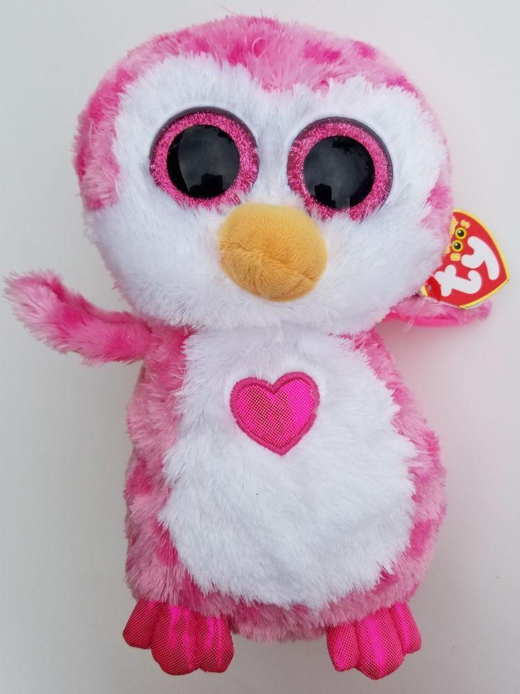 a47187faa42 Ty Beanie Boos Owl Pink Juliet heart Valentines 9