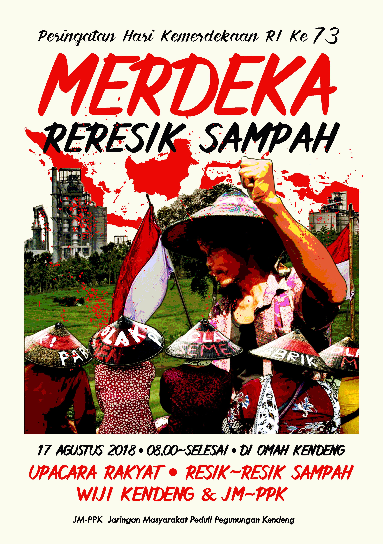 Dirgahayu Republik Indonesia Ke 73 Th Merdeka Reresik Sampah 17