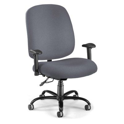 OFM Big and Tall High-Back Desk Chair Upholstery: Gray