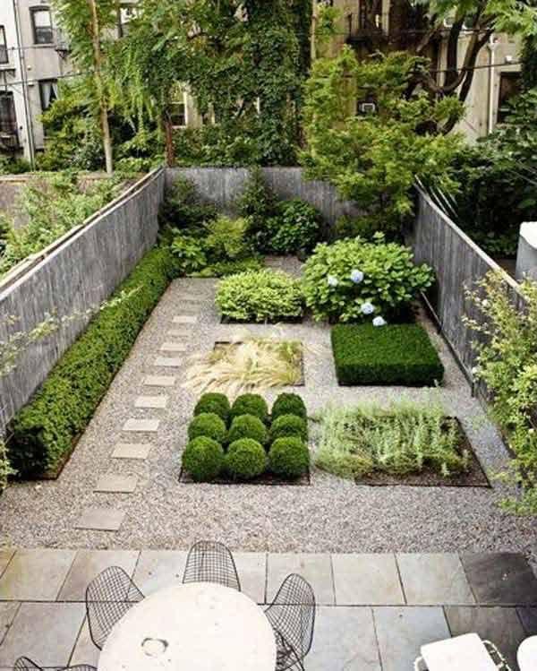 Am nagement ext rieur patio garten ideen garten et for Minimalistischer vorgarten
