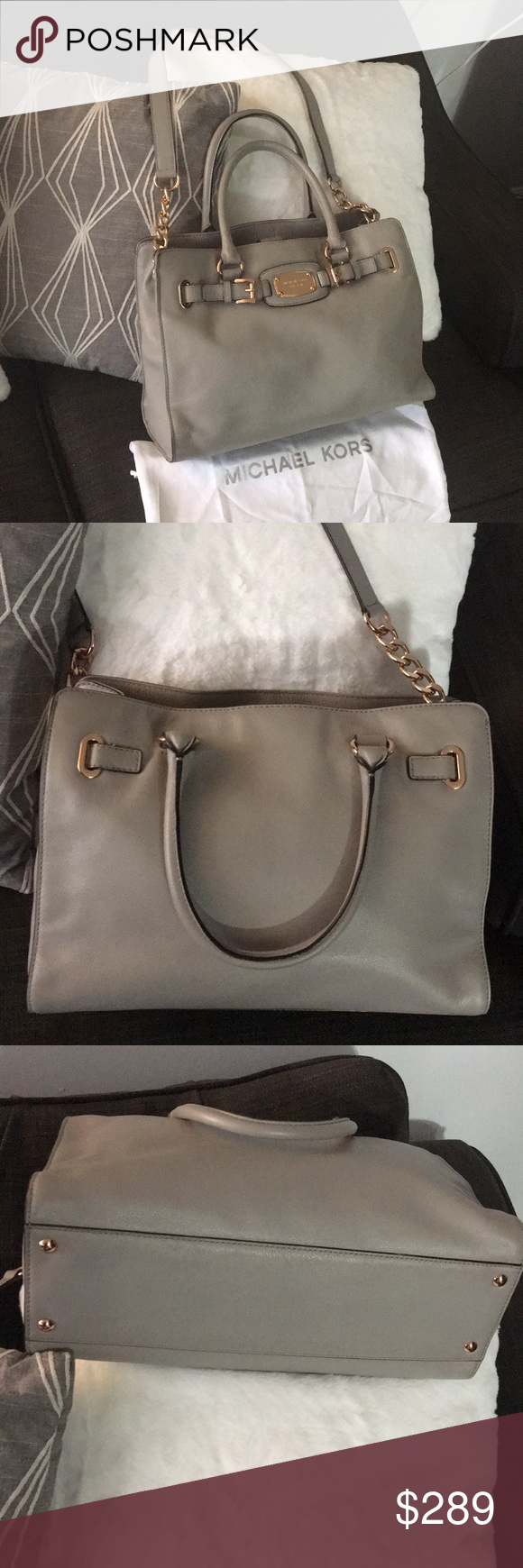 380a7769e8 RaRe ROSEGOLD Gray Michael Kors Hamilton bag Nearly Perfect Pre-Loved  condition Used 2