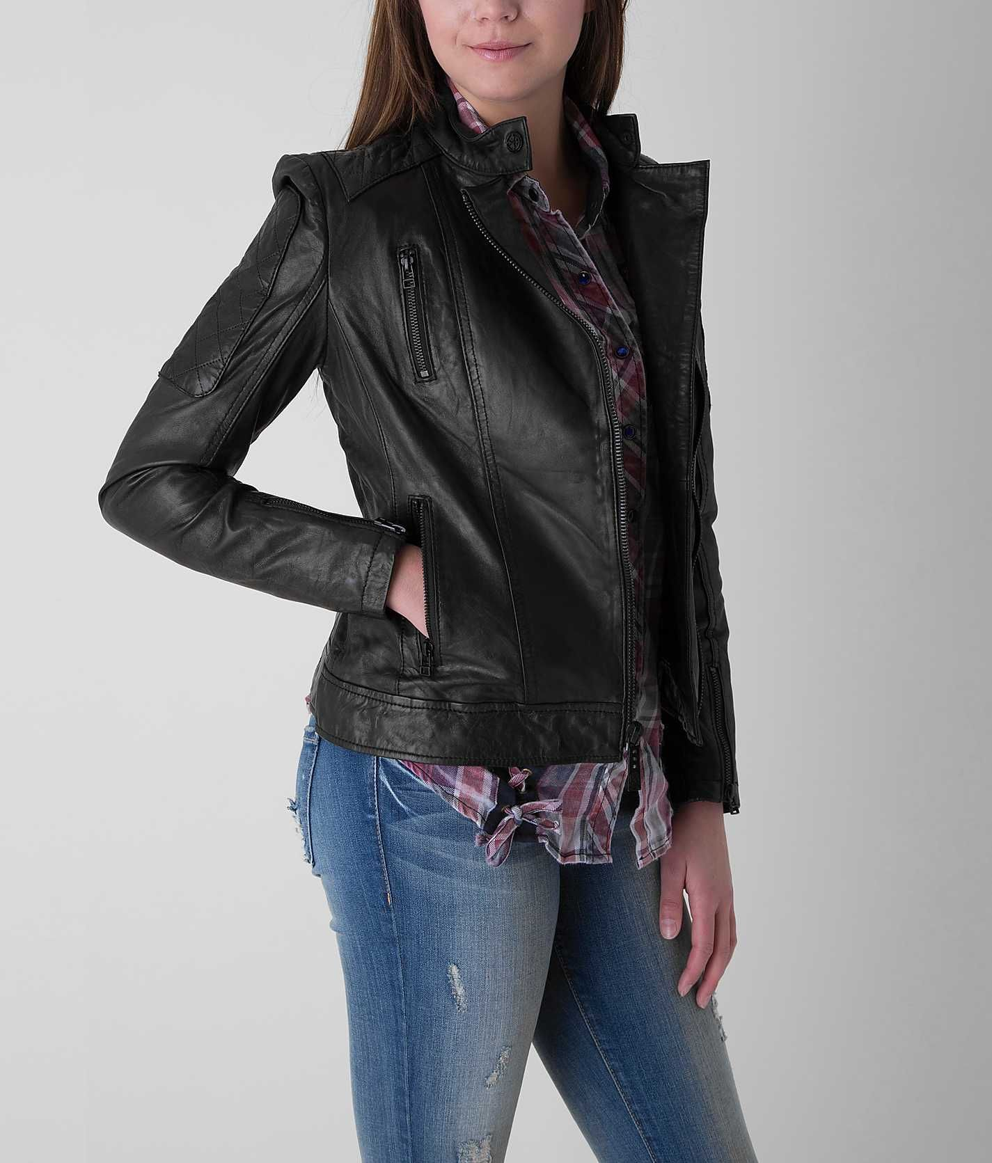 Affliction Black Premium Alexis Jacket Women's Coats