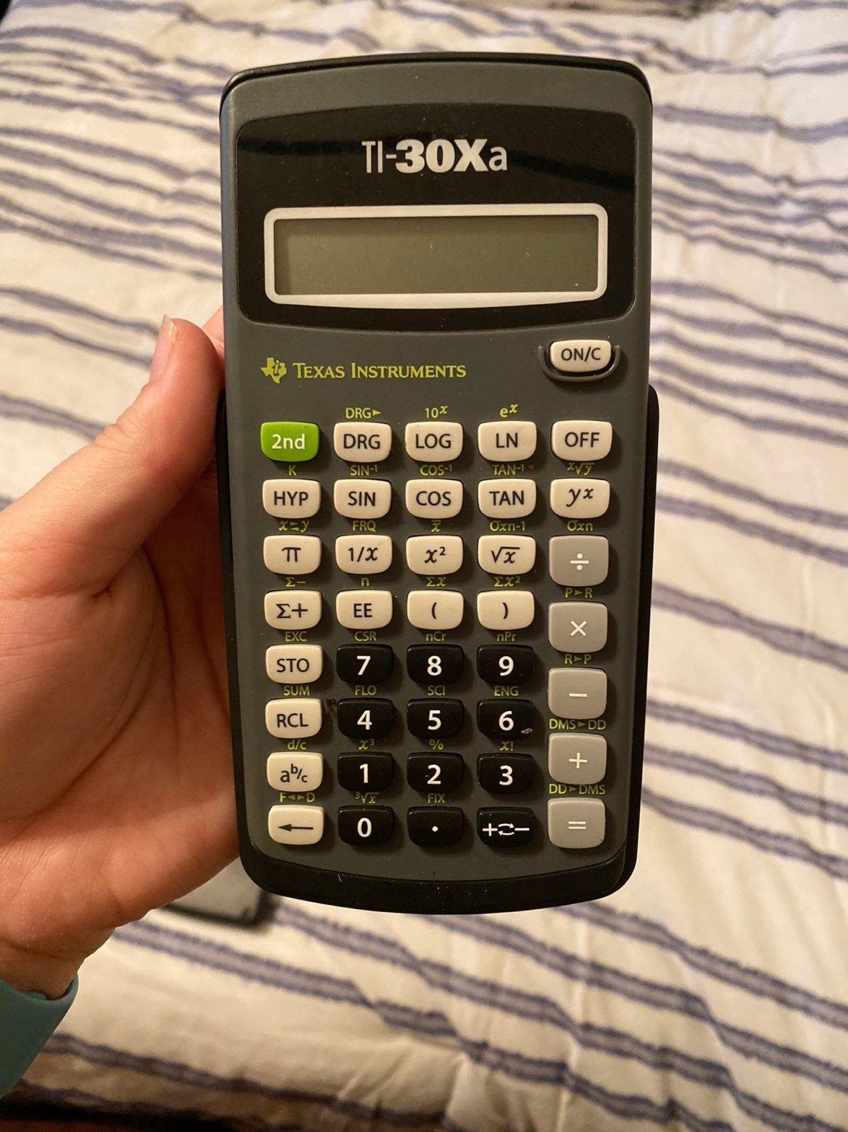 Ti 30xa Gently Used Grey Calculator Calculator Electronic Products Supplies