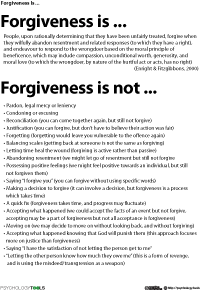 Forgiveness in recovery worksheet