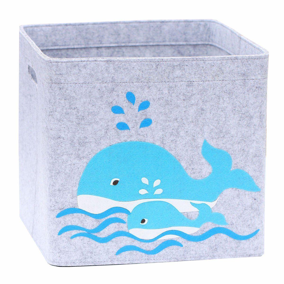 Spielzeugkiste Wal Familie - Deko und Stauraum für ein Unterwasser ...