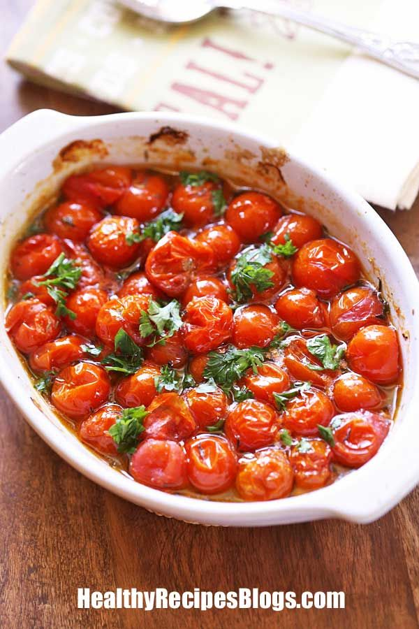 Roasted Cherry Tomatoes with Balsamic Vinegar   He