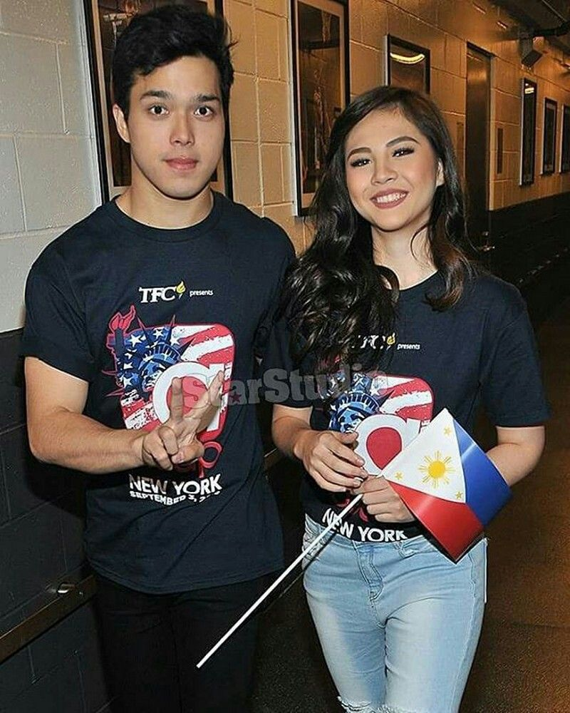 This is the handsome Elmo Magalona and the lovely Janella Salvador smiling for the camera while preparing for the second to the last production number during ASAP Live in New York held at the Barclays Center last September 3, 2016. Indeed, ElNella is another of my favourite Kapamilya love teams, and they're amazing Star Magic talents. #ElmoMagalona #JanellaSalvador #ElNella #ASAPLiveinNewYork