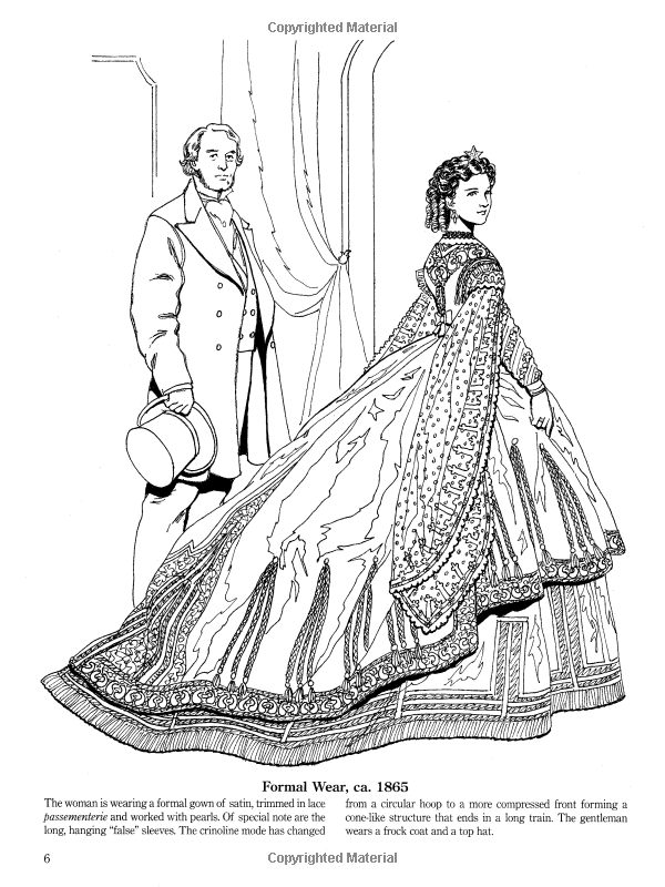 Late Victorian And Edwardian Fashions Dover Fashion Coloring Book Tom Tierney 9780486444581