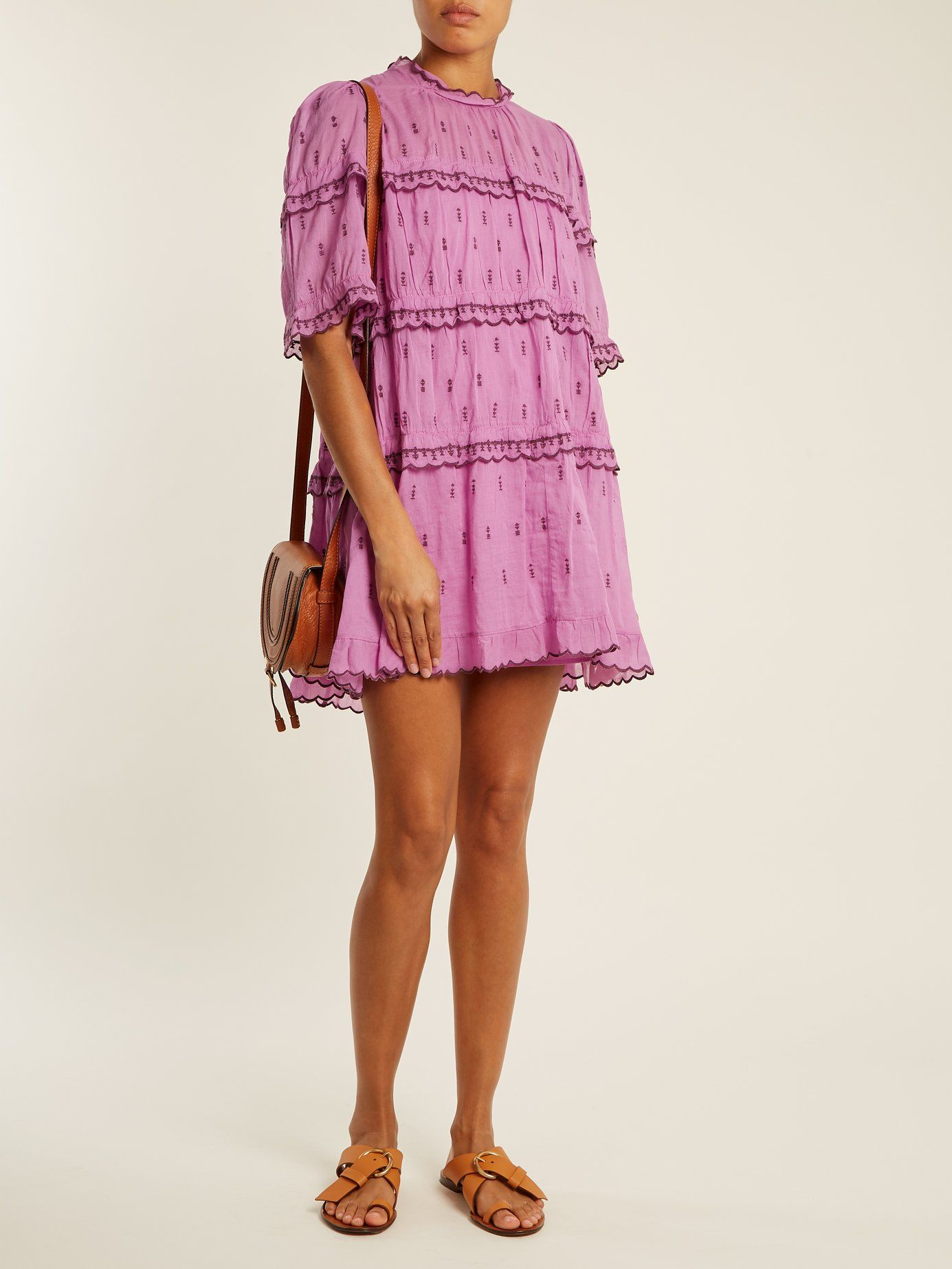 5d3a7e67282 Click here to buy Isabel Marant Étoile Lyin ruffle-trimmed tiered cotton  mini dress at MATCHESFASHION.COM