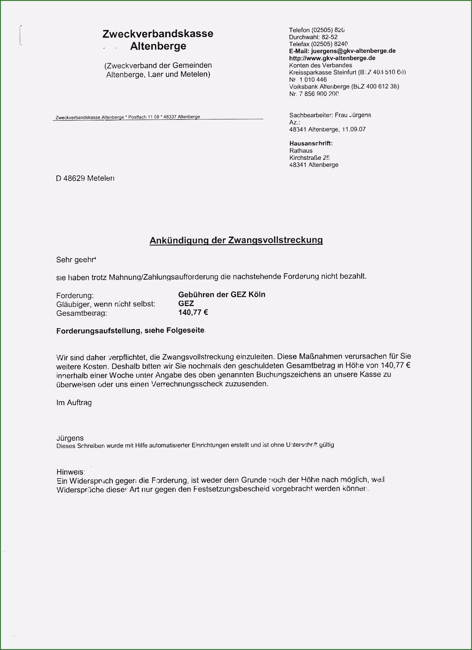 19 Hervorragend Festsetzungsbescheid Gez Widerspruch Vorlage Fur 2020 In 2020 Zwangsvollstreckung Vollstreckung Vorlagen