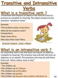 Verb Tenses Intransitive Verb English Grammar Teaching English