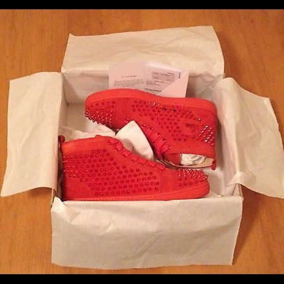 057625709d12 Red bottom men sneakers!! AUTHENTIC SIZE 7 thru 10 RED BOTTOMS NEVER WORN  WITH TAGS RECEIPT DUST BAG AND BOX Christian Louboutin Shoes