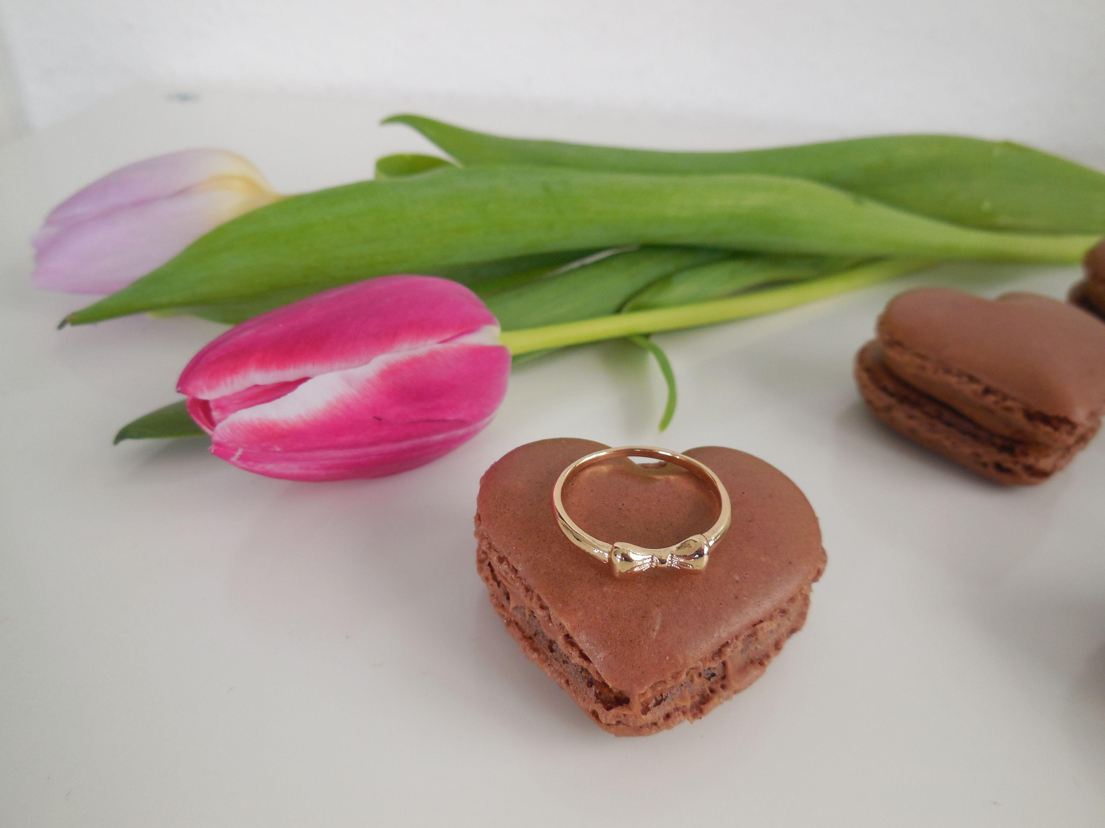 Herz-Macarons, Macarons au chocolat