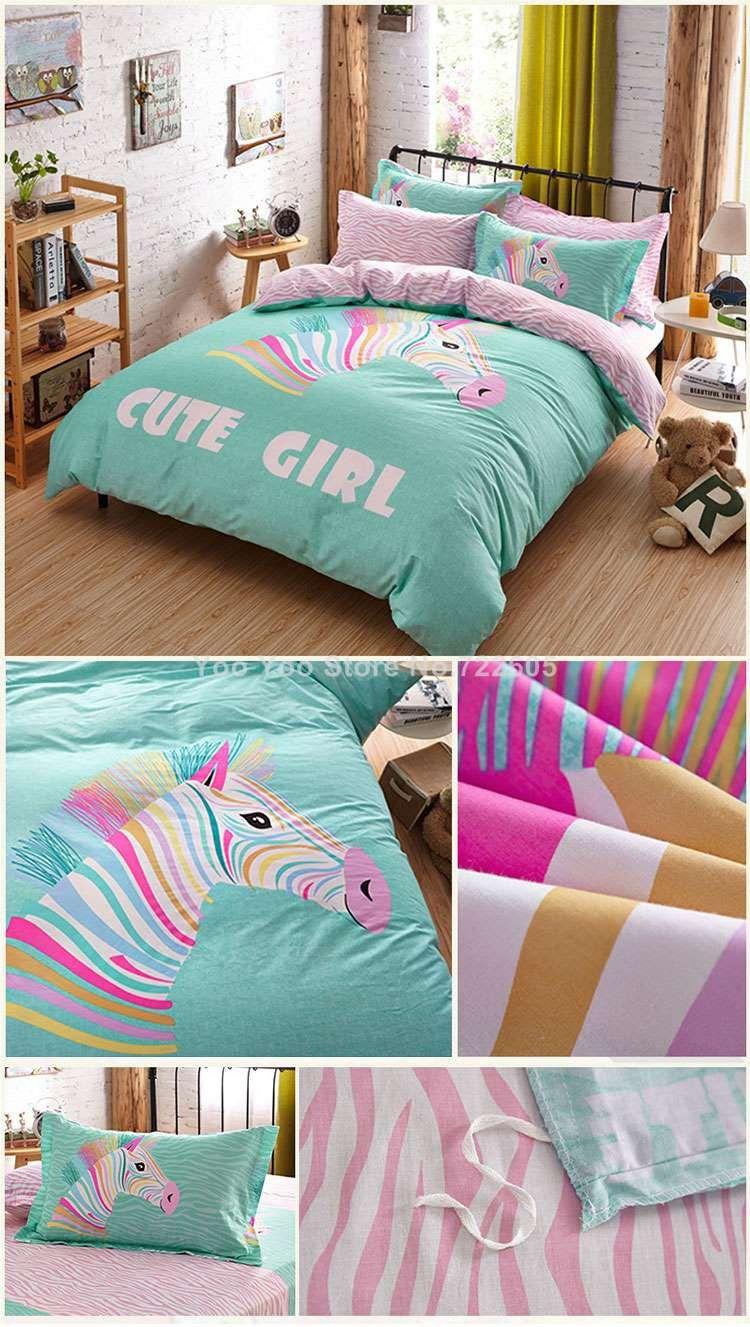 Bom quailty adolescente jogo de cama / cama conjuntos de algodão de ...