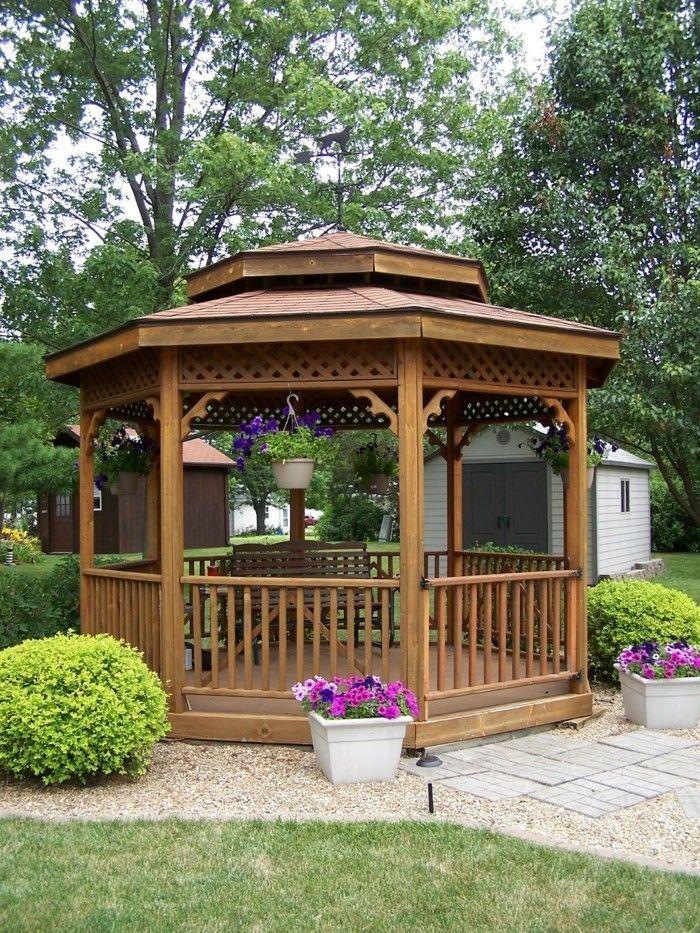 Garten Gestalten Bilder Erholungsbereich Blumen Kies Gartenwege ... Gartenwege Aus Kieselsteinen Garten Anlegen