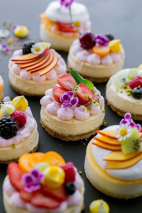 Genial einfach: Mini-Cheesecakes! #cheesecakecupcakes