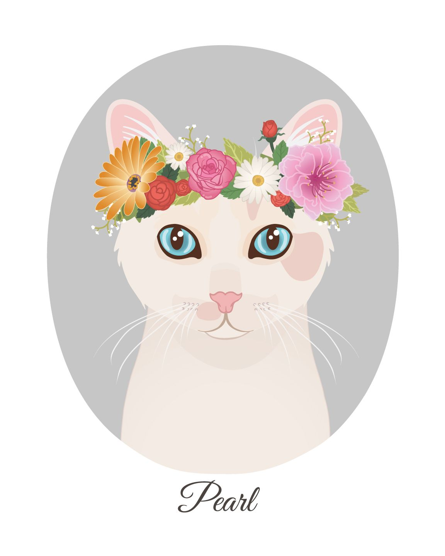 Custom Cat Painting Pet Memorial Pet Painting Customized Pet Art Cat Drawing Custom Pet Portrait Illustration
