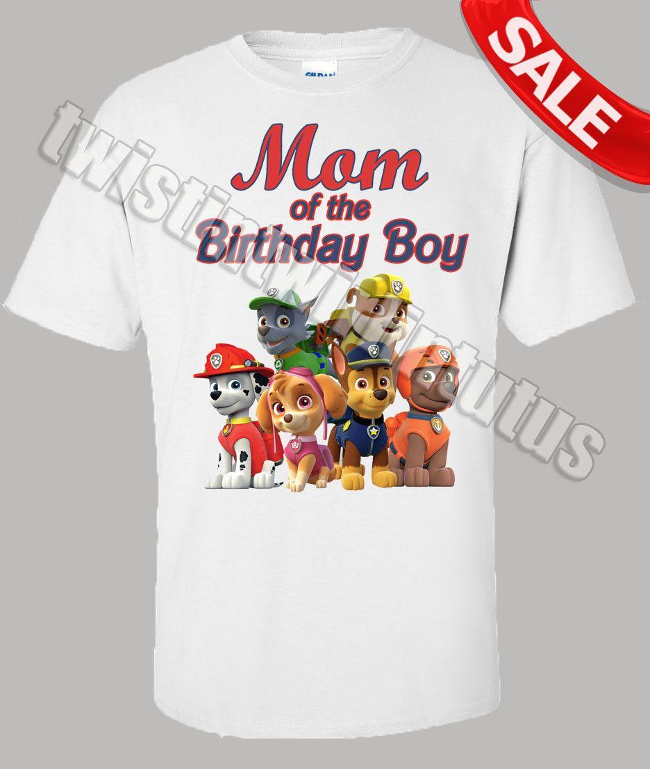0f838092 Paw Patrol Mom Birthday Shirt | Bentleys party | Paw patrol birthday ...