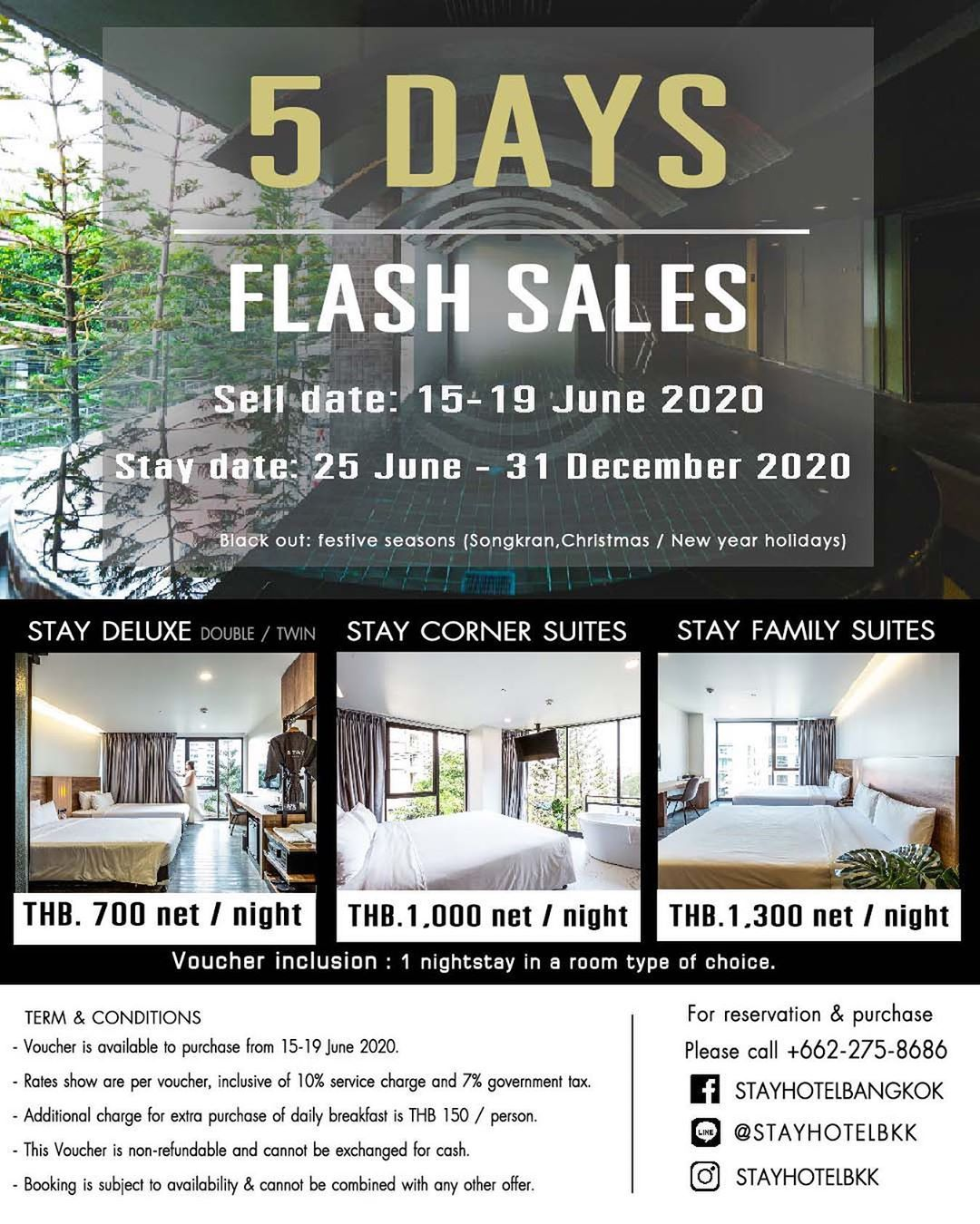 Buy Now Staycation Later With Our 5 Days Flash Sales Room Starts At Thb700 Night Snap Up Your Next Escape Now And New Year Holidays Festival Season Night