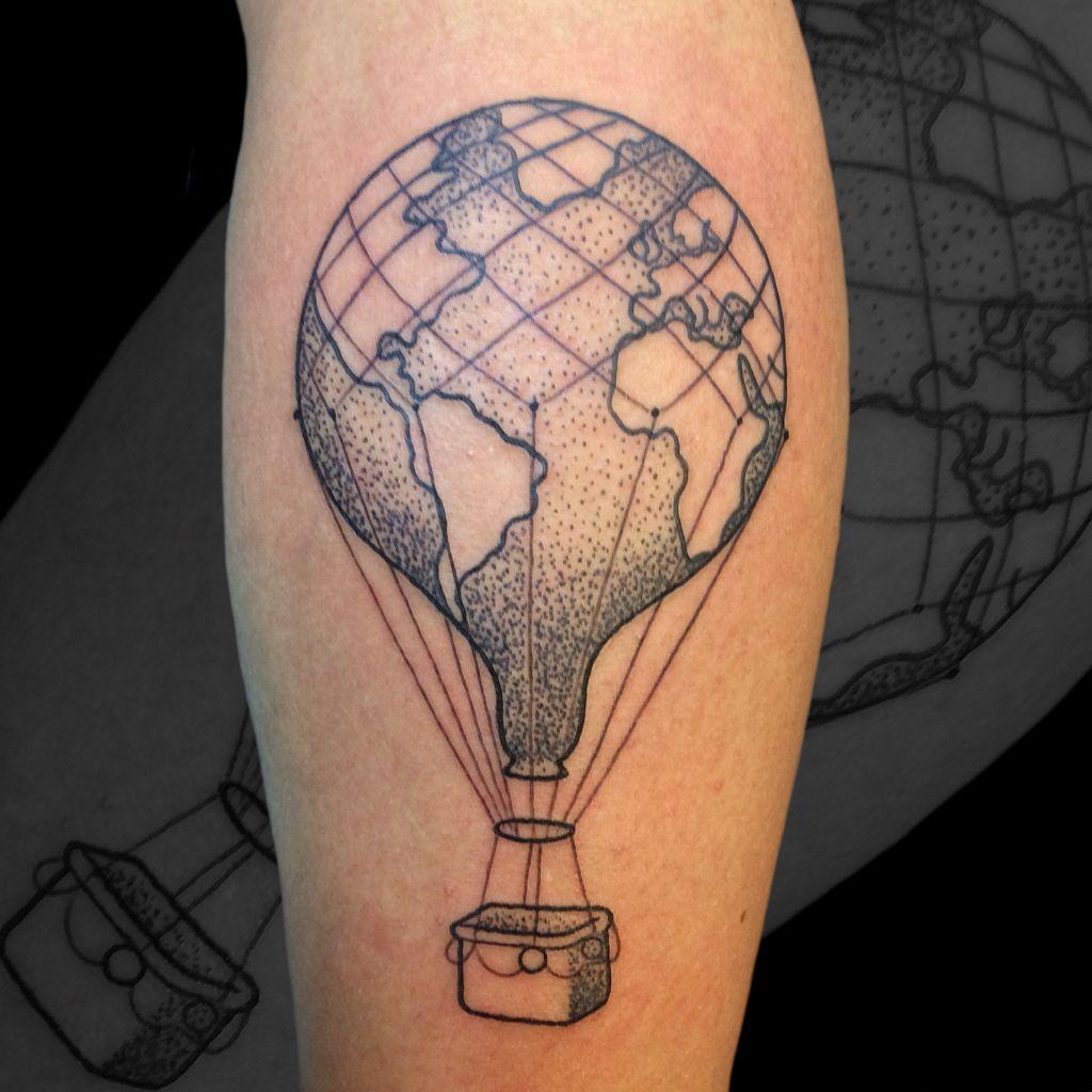 Hot air balloon tattoo | schnaddl | Pinterest