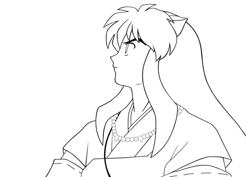 this photo about cartoon fox coloring pages and pictures entitled as the fox of inuyasha coloring page printable also describes and labeled as animal