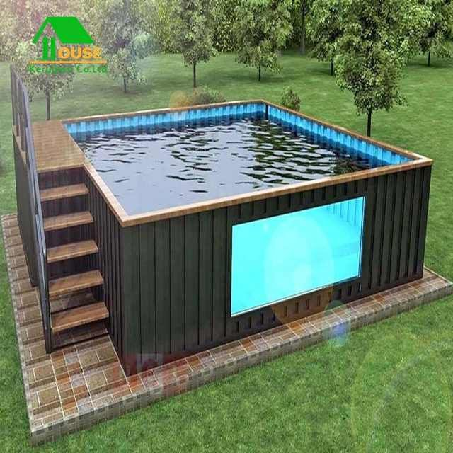 Source High Quality Custom Shipping Container Swimming Pool On M Alibaba Com Container House Design Container House Shipping Container Pool Cost