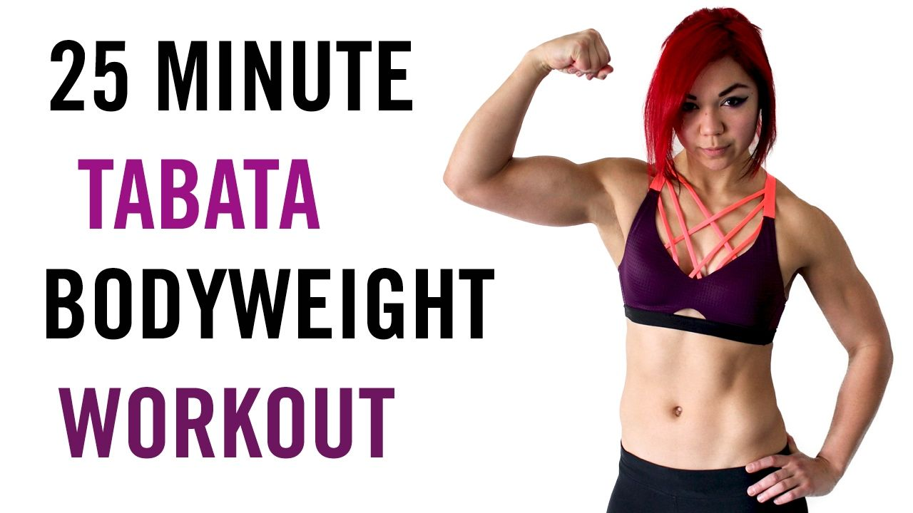 25 Minute Tabata FAT MELTING Bodyweight Workout - Full Body HIIT - YouTube