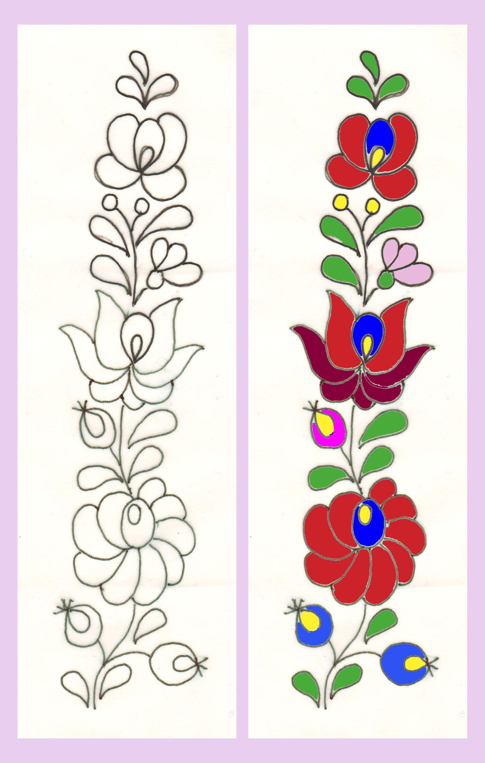 Dibujos y plantillas para imprimir dibujos de flores para - Plantillas cenefas para pintar ...