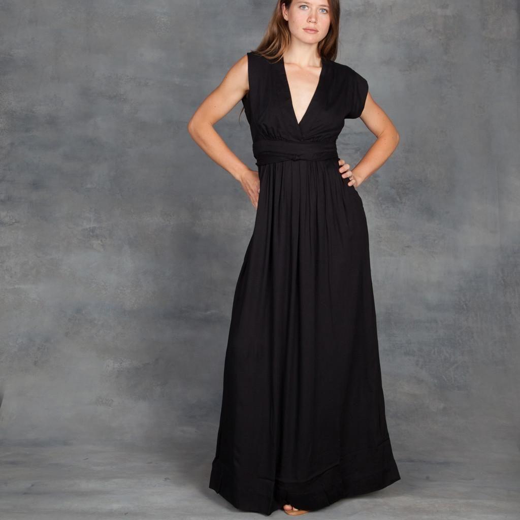 Gat rimon voss long maxi dress in noir gat rimon pinterest