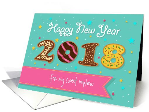 happy new year 2018 for my sweet nephew donuts font 1459682
