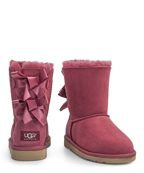 Look At This Zulilyfind Red Plum Bow Bailey Suede Boot