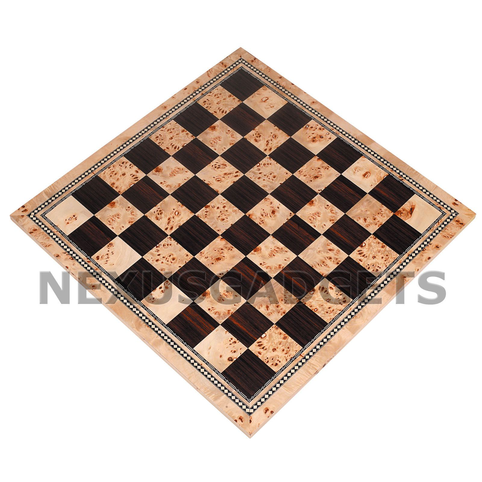 Atil Chess X Large 21 Inch Tournament Board Only Burl Inlaid Wood Flat Game Set 28672734436 Ebay Chess Board Wood Games Wood Chess Set