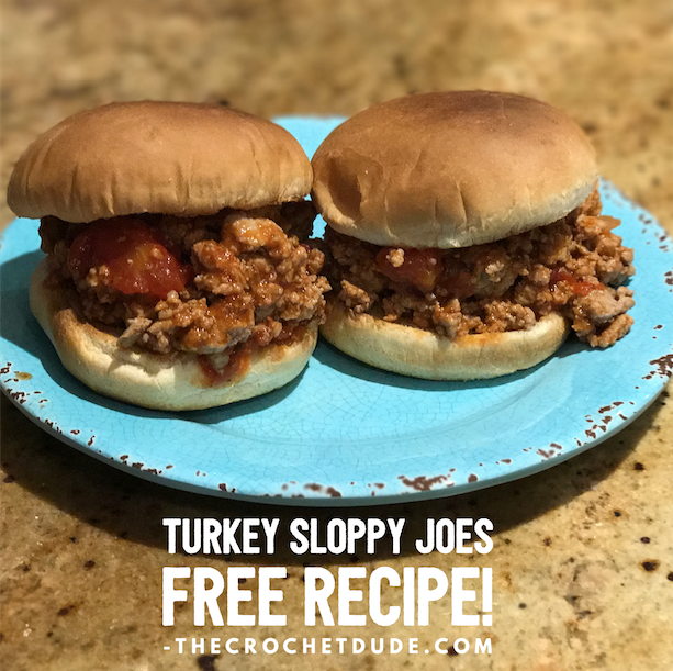 Free recipe: Turkey Sloppy Joes from Drew Emborsky, aka The Crochet Dude