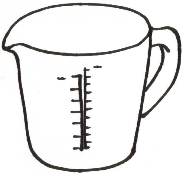 Measuring Cups 5 Spoons 6 Liquid Ingredient Clipart Free Clip
