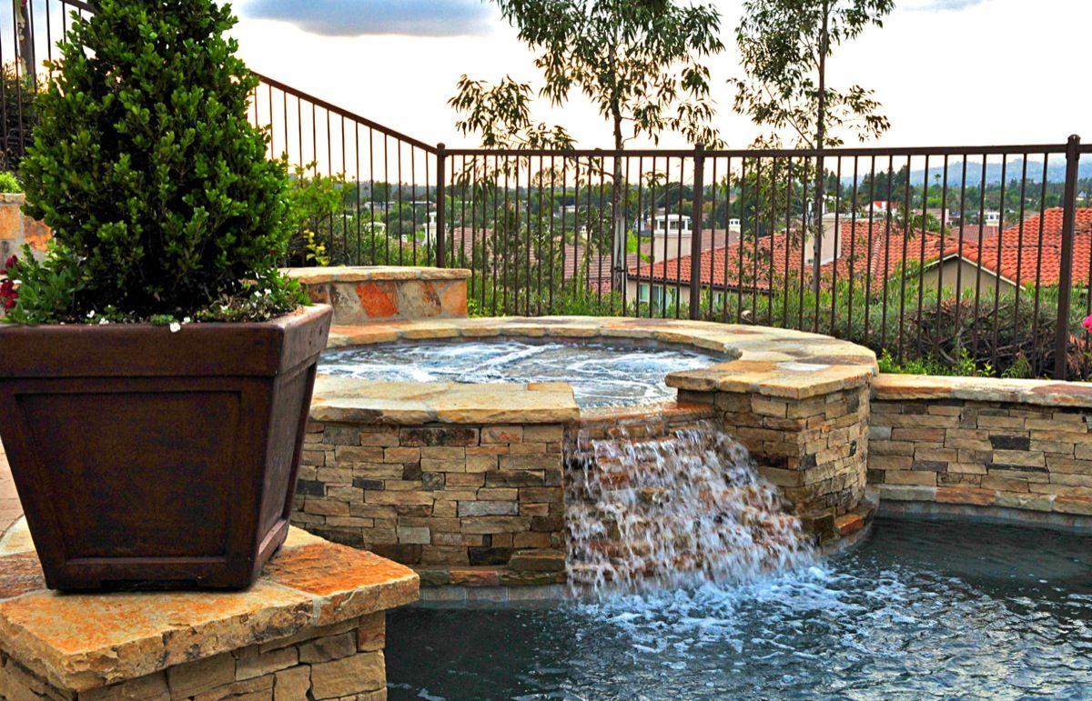 tub waterfall into pool home pool u0026 tub pinterest