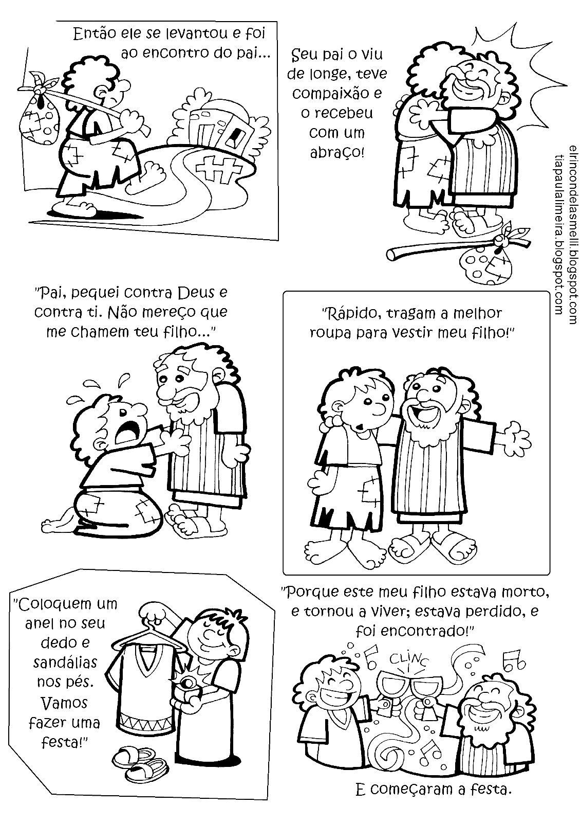 Parabola Do Pai Misericordioso Para Colorir Com Imagens Filho