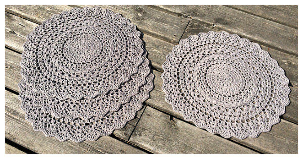 4 Mandala Placemat Free Crochet Pattern Placemats Patterns Crochet Mandala Crochet Placemat Patterns