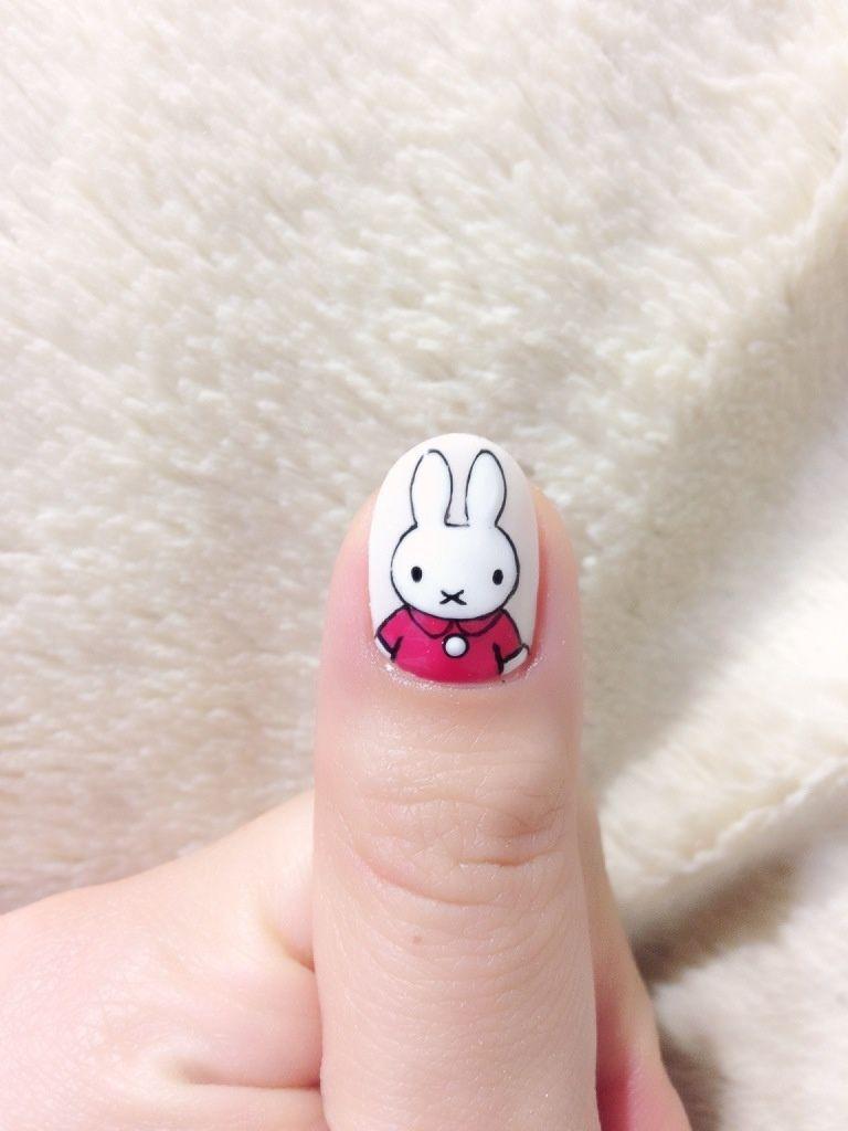 Nijntje - Miffy Nail - -{ mooie nageltjes }-   Pinterest ...