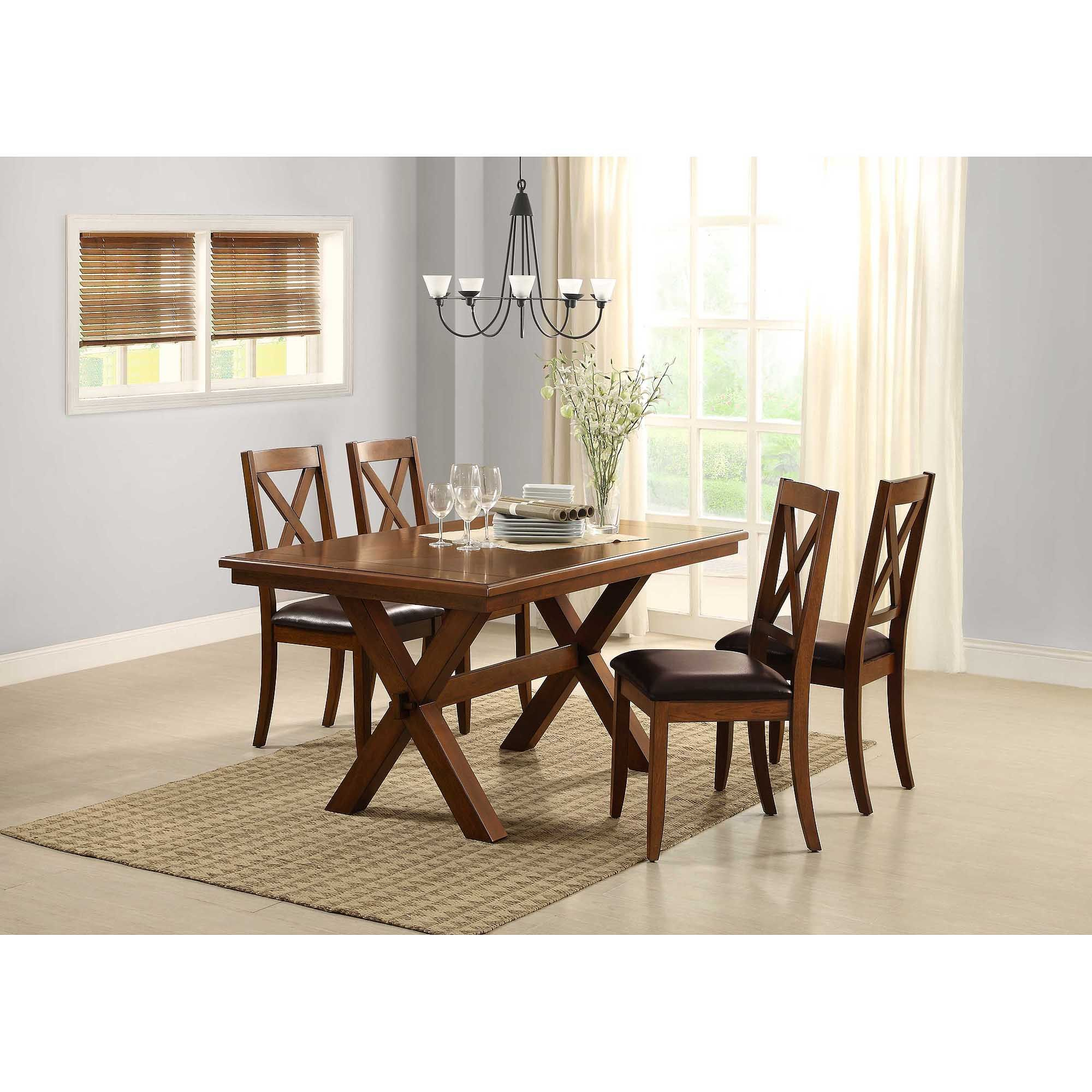 Better Homes Gardens Maddox Crossing Dining Table Walmart Com Round Dining Table Sets Oak Dining Room Round Dining Table