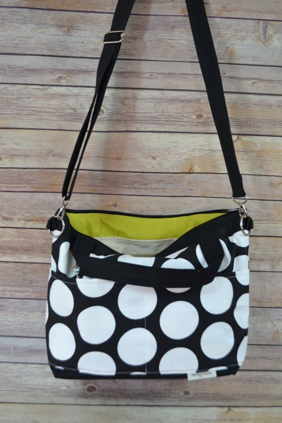 CAMERA Purse and Market Tote Bag / Black & White by DarbyMack #camerapurse
