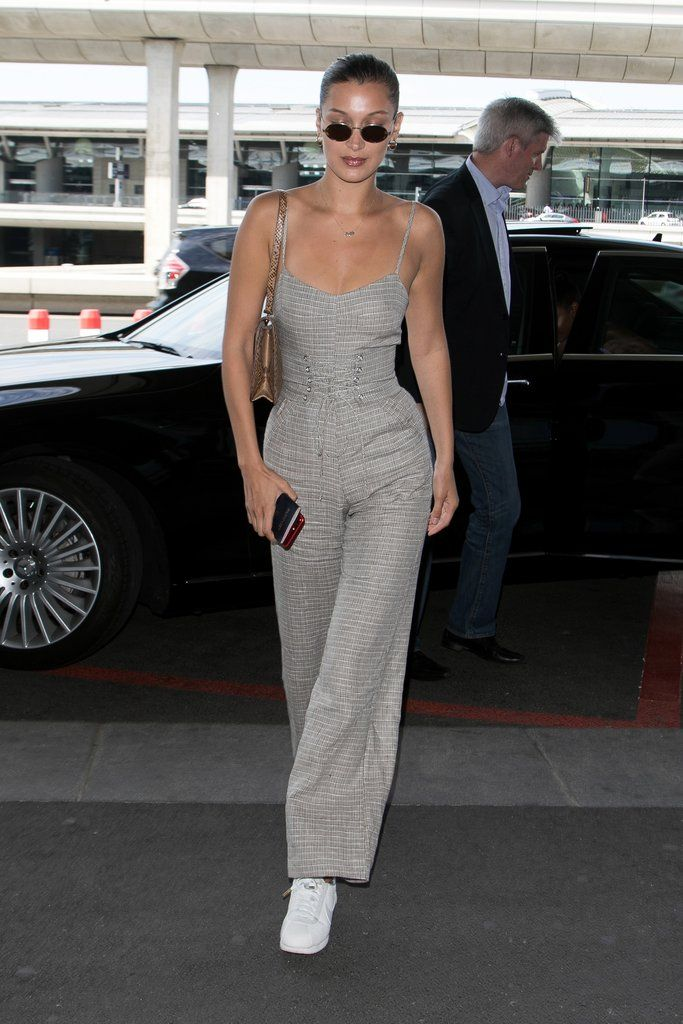 53fa0410a16a Bella Hadid Just Wore a Reformation Jumpsuit