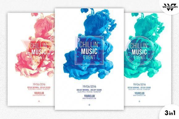 MINIMAL ABSTRACT Flyer Template by WG-VISUALARTS on - event brochure template